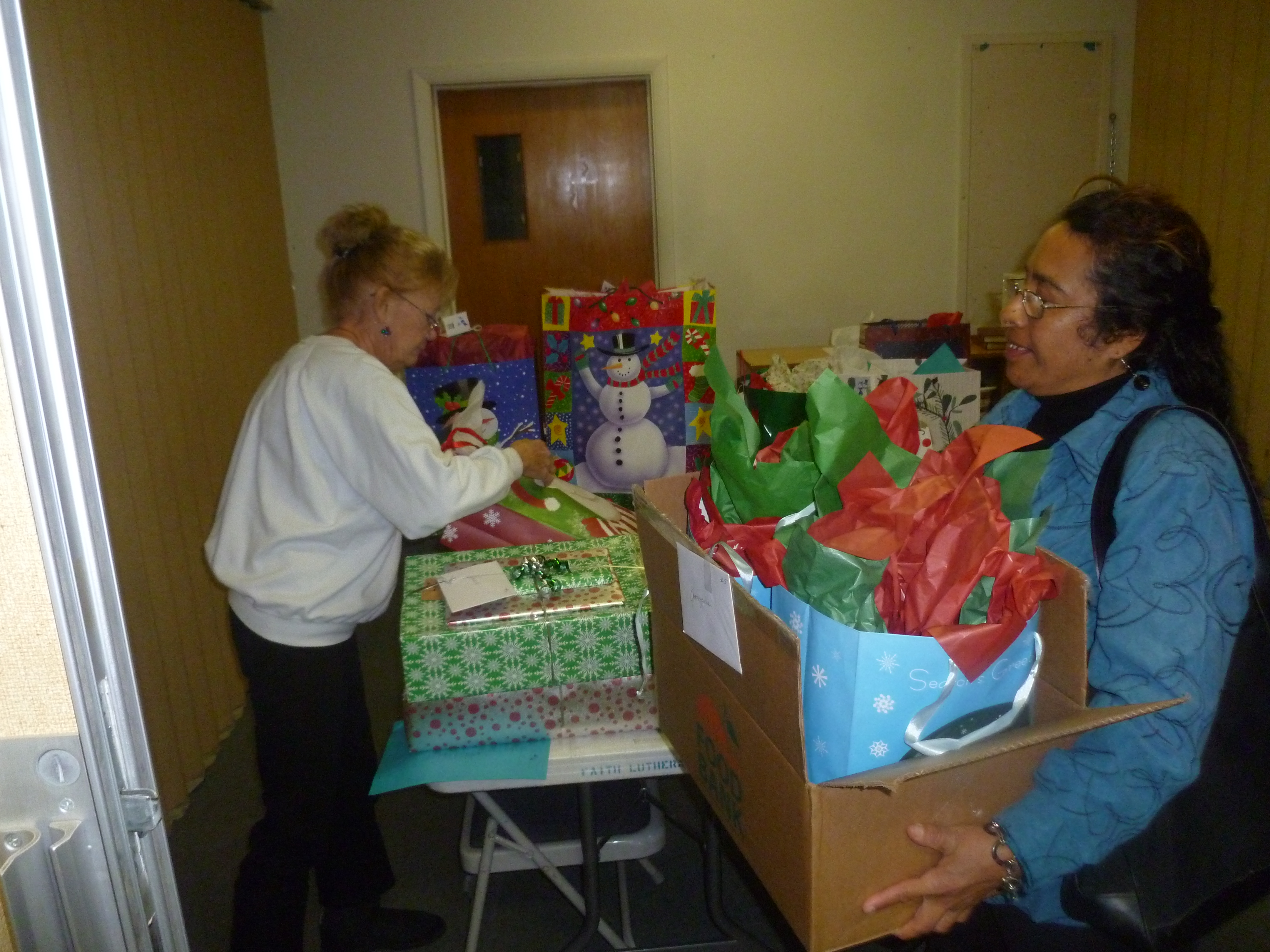 Social Ministries Angel Tree gifts